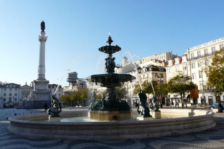 La Plaza del Rossio foro de fotos